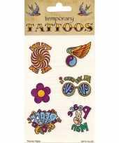 Goedkope jaren hippie tattoos stuks