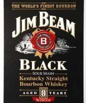 Goedkope jim beam black bourbon muurplaat