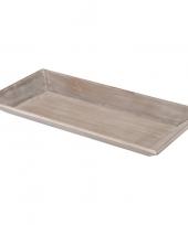 Goedkope kaarsenbord plateau hout houten antiek grijs rechthoekig
