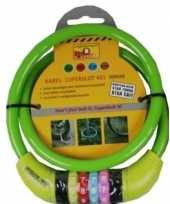 Goedkope kabelslot cijferslot groen mm