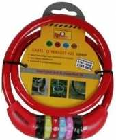 Goedkope kabelslot cijferslot rood mm