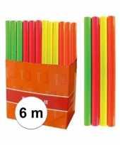 Goedkope kaftpapier folie schoolboeken neon oranje meter 10115919