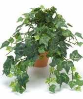 Goedkope kantoor kunstplant klimop groen terracotta pot