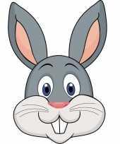 Goedkope kartonnen konijnen masker kinderen