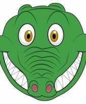Goedkope kartonnen krokodillen masker kinderen