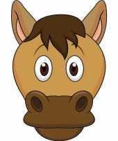 Goedkope kartonnen paarden masker kinderen
