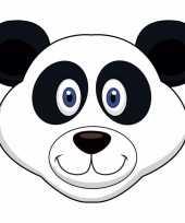 Goedkope kartonnen panda masker kinderen