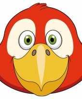 Goedkope kartonnen papegaai masker kinderen