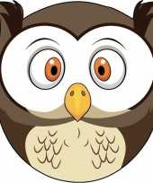 Goedkope kartonnen uilen masker kinderen