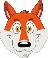 Goedkope kartonnen vossen masker kinderen
