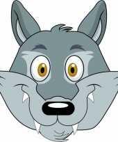 Goedkope kartonnen wolven masker kinderen