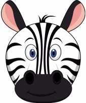 Goedkope kartonnen zebra masker kinderen