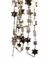 Goedkope kasjmier bruine sterren kralenslinger kerstslinger