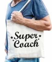 Goedkope katoenen cadeau tasje super coach