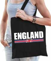 Goedkope katoenen engeland supporter tasje england zwart