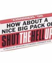 Goedkope kauwgom shut the hell up