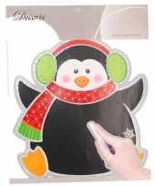 Goedkope kerst decoratie pinguin krijtbord sticker