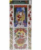 Goedkope kerst decoratie raamstickers glitters type