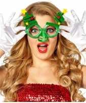Goedkope kerst feest verkleed bril groen kerstbomen volwassenen