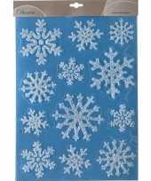 Goedkope kerst raamstickers raamdecoratie sneeuwvlok plaatjes 10104515