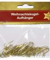 Goedkope kerstbalhaakje goud stuks