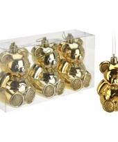 Goedkope kerstboom decoratie beer kerstballen goud