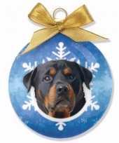 Goedkope kerstboom decoratie kerstbal hond rottweiler
