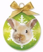 Goedkope kerstboom decoratie kerstbal rabbit