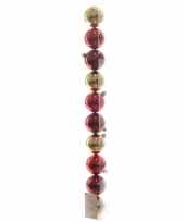 Goedkope kerstboom decoratie kerstballen mix goud rood stuks