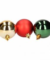 Goedkope kerstboom decoratie kerstballen mix rood groen stuks 10081377