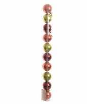 Goedkope kerstboom decoratie kerstballen mix rood groen stuks 10082086