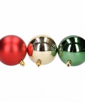 Goedkope kerstboom decoratie kerstballen mix rood groen stuks