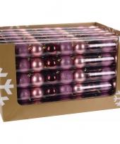 Goedkope kerstboom decoratie kerstballen mix roze bordeaux stuks 10081379