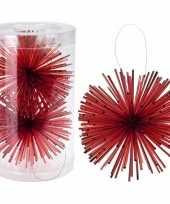 Goedkope kerstboom decoratie kerstbol classic red 10097599