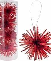 Goedkope kerstboom decoratie kerstbol rood