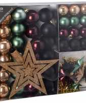 Goedkope kerstboom decoratie set seasons classics