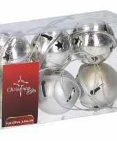 Goedkope kerstboom decoratie zilveren kerstbellen stuks