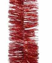 Goedkope kerstboom glitter folie slinger rood