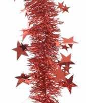 Goedkope kerstboom sterren folie slinger rood