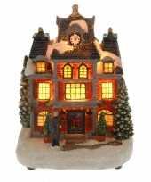 Goedkope kersthuisje man verlichting