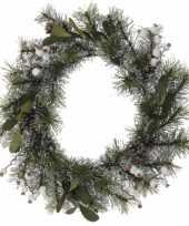 Goedkope kerstkrans dennenappels