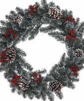 Goedkope kerstkrans dennentakjes 10081472