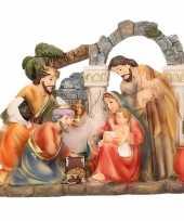 Goedkope kerststal beeldje heilige familie