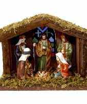 Goedkope kerststal verlichting figuren