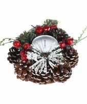 Goedkope kerststukje krans kaarsen standaard
