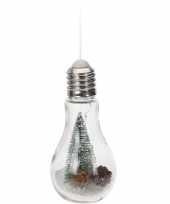 Goedkope kerstversiering kerstboompje gloeilamp verlichting
