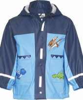 Goedkope kinder blauwe regenjas dinosaurus design