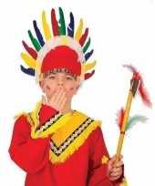 Goedkope kinder indianen verkleed hoofdtooi veren