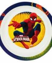 Goedkope kinder ontbijtbord spiderman