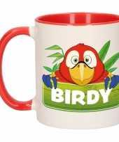 Goedkope kinder papegaaien mok beker birdy rood wit